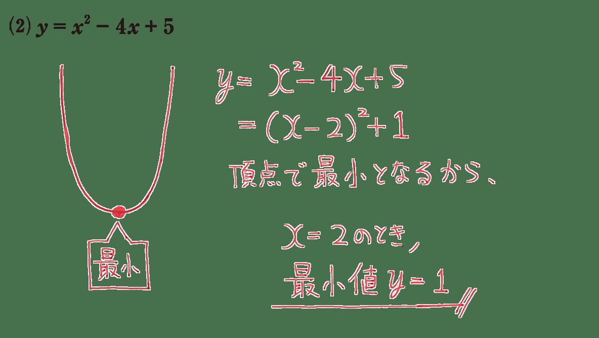 高校数学Ⅰ 2次関数19 練習(2)の答え