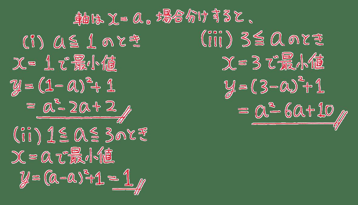 高校数学Ⅰ 2次関数23 例題の答え