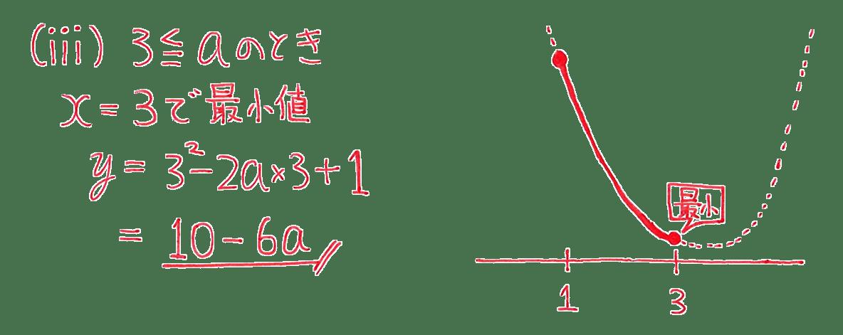 高校数学Ⅰ 2次関数23 練習解答の(ⅲ)のみ
