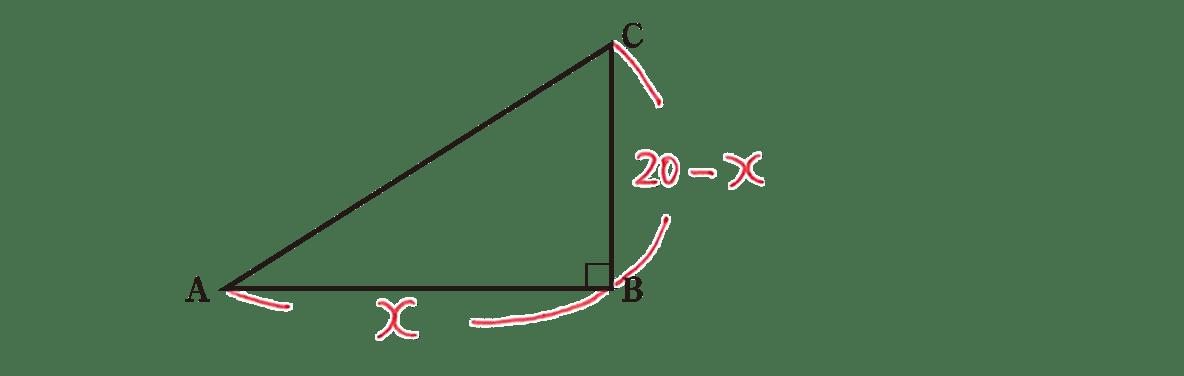 高校数学Ⅰ 2次関数30 練習の答え 問題の図に書き込んだもの