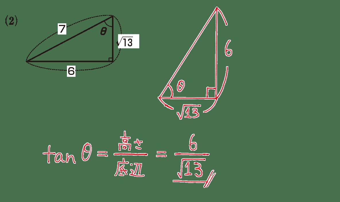 高校数学Ⅰ 三角比2 練習(2)の答え