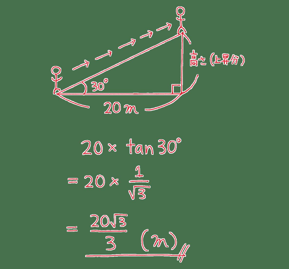 高校数学Ⅰ 三角比7 例題の答え