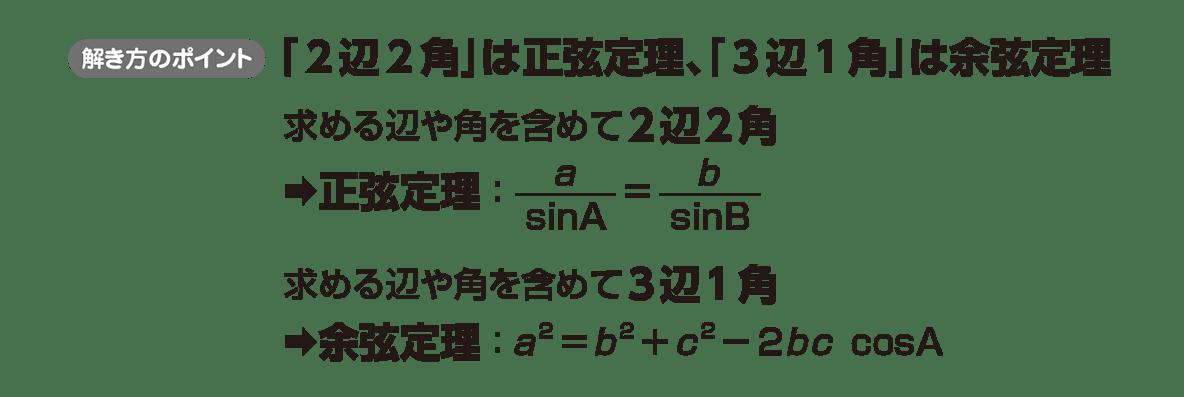 高校数学Ⅰ 三角比25 ポイント