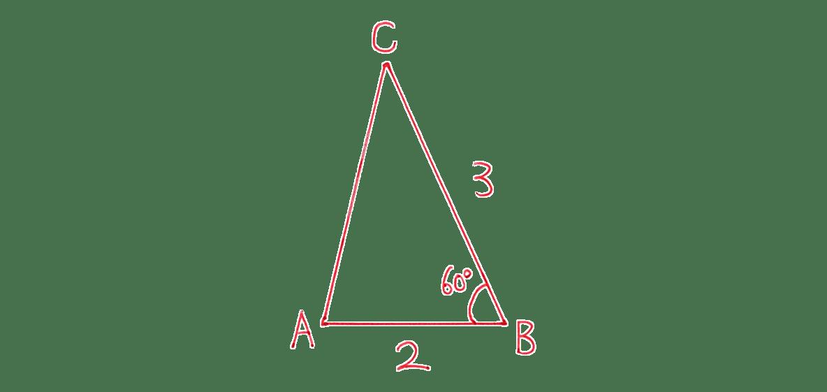 高校数学Ⅰ 三角比29 練習(2)の答え 三角形の図