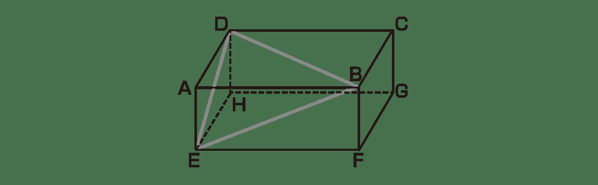 高校数学Ⅰ 三角比37 例題の直方体の図