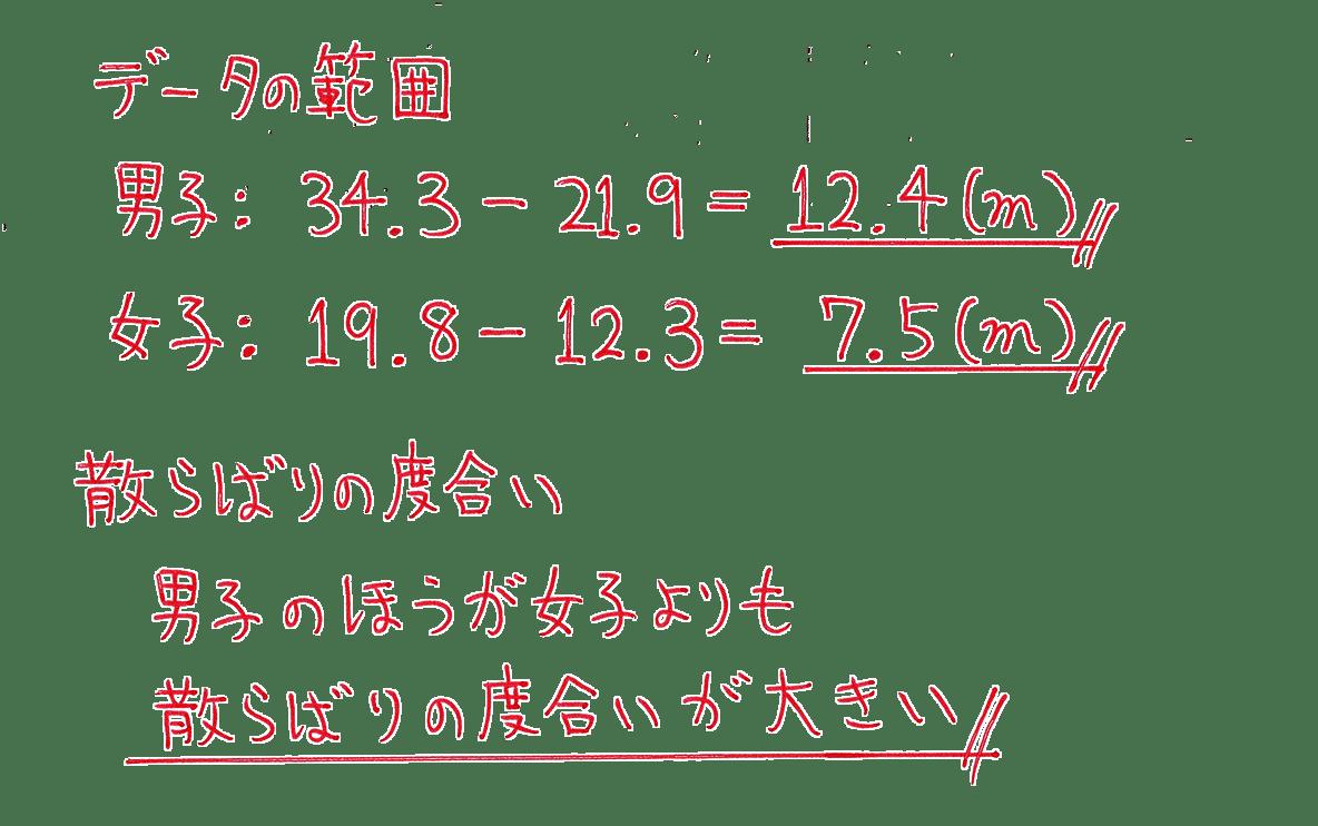 高校数学Ⅰ データ分析5 例題 答え