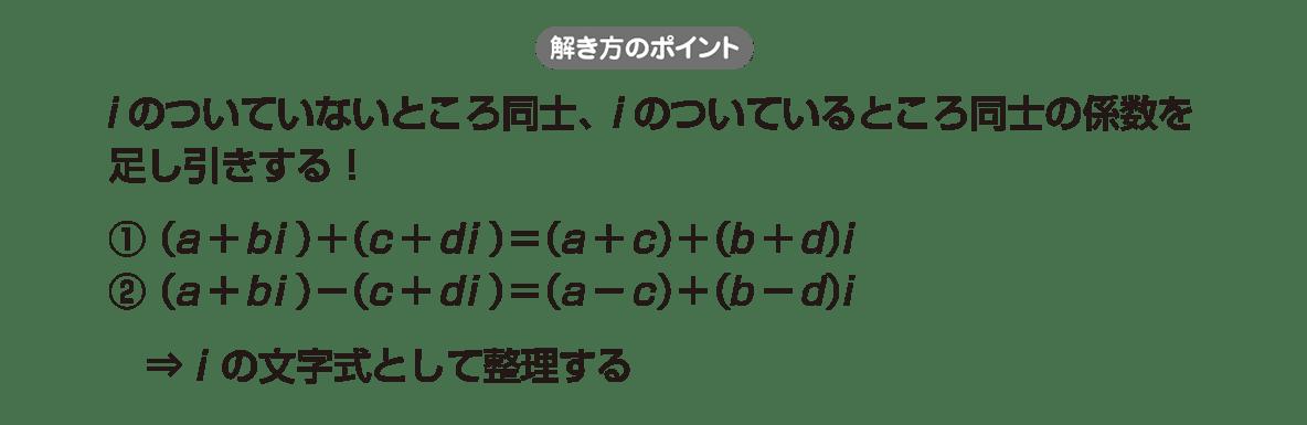高校数学Ⅱ 複素数と方程式4 ポイント