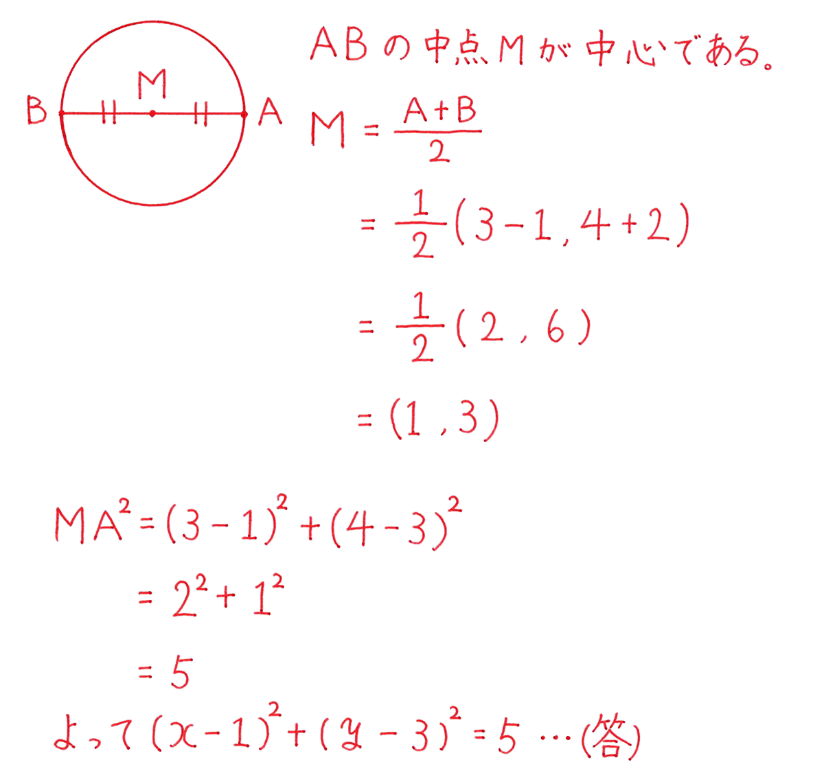 高校数学Ⅱ 図形と方程式15 練習 答え