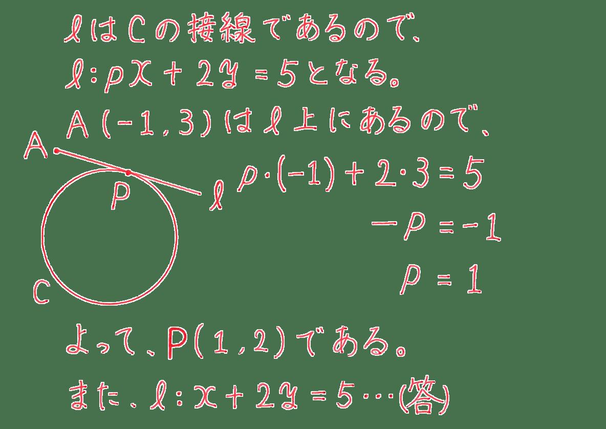 高校数学Ⅱ 図形と方程式25 例題 答え