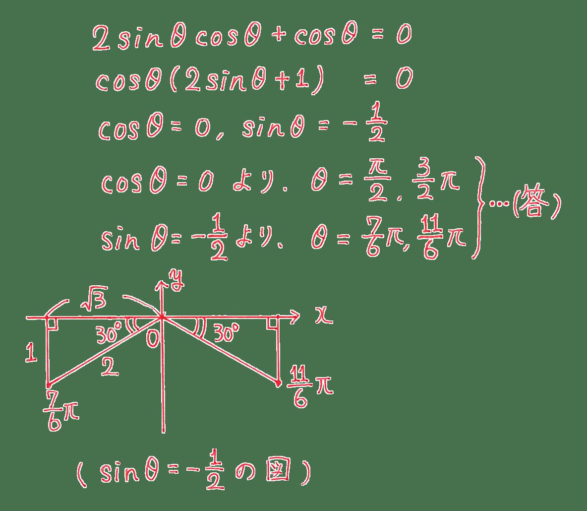 高校数学Ⅱ 三角関数20 例題 答え