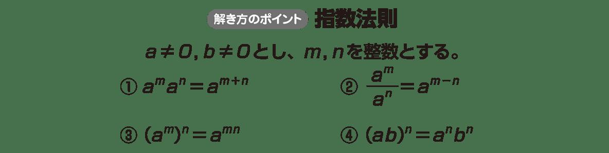高校数学Ⅱ 指数関数・対数関数1 ポイント