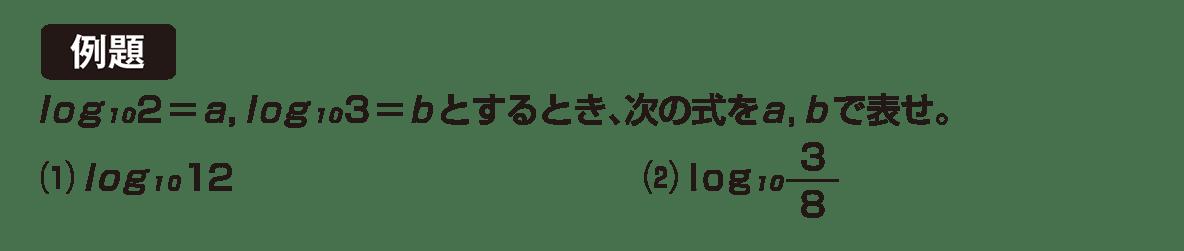 高校数学Ⅱ 指数関数・対数関数15 例題