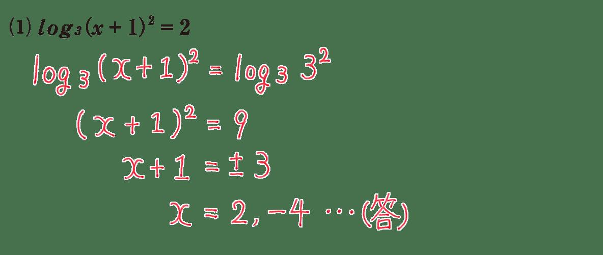 高校数学Ⅱ 指数関数・対数関数17 練習(1)の答え