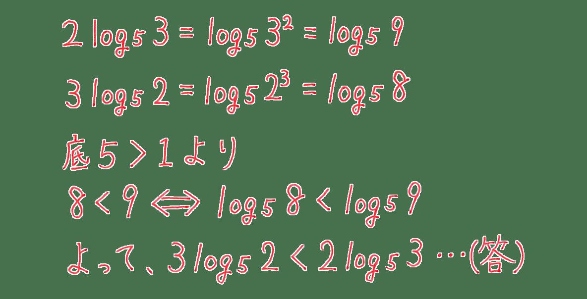 高校数学Ⅱ 指数関数・対数関数20 例題 答え