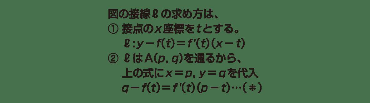 高校数学Ⅱ 微分法と積分法10 ポイント 6行目まで 図不要