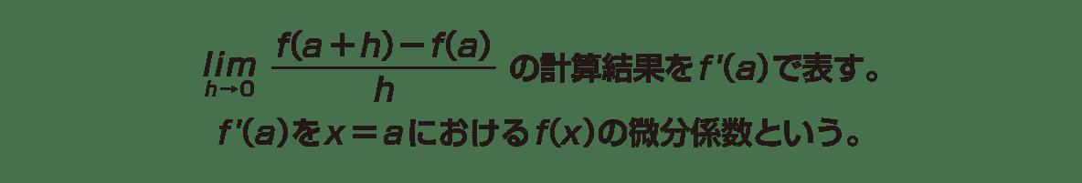 高校数学Ⅱ 微分法と積分法3 ポイント 1~2行目