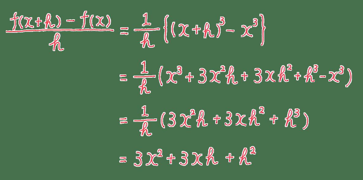 高校数学Ⅱ 微分法と積分法4 練習答え4行目まで