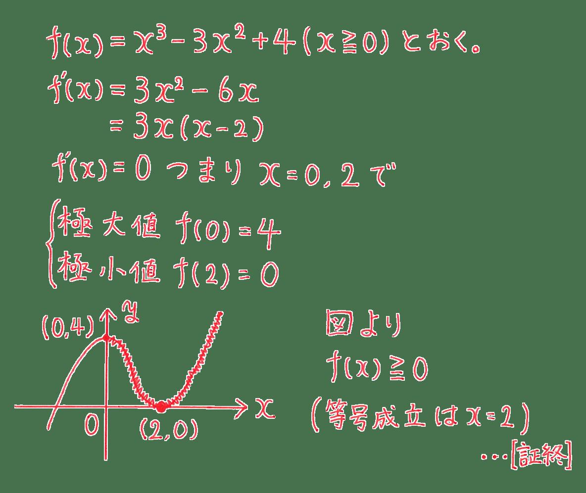 高校数学Ⅱ 微分法と積分法16 例題 答え