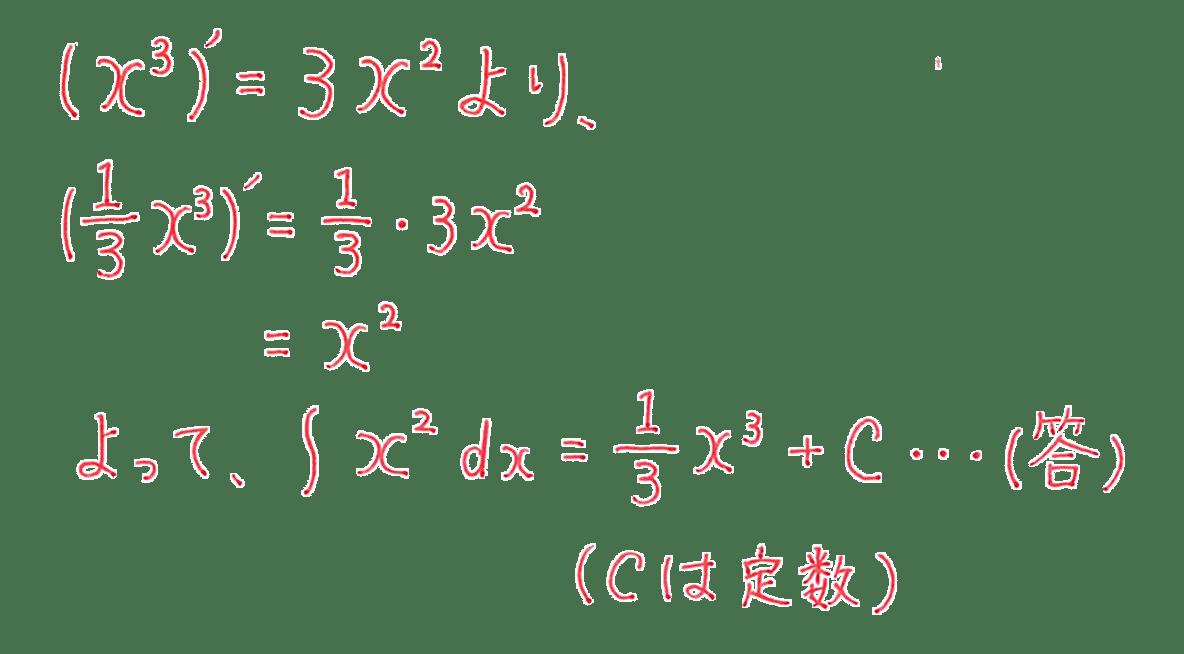 高校数学Ⅱ 微分法と積分法18 例題 答え