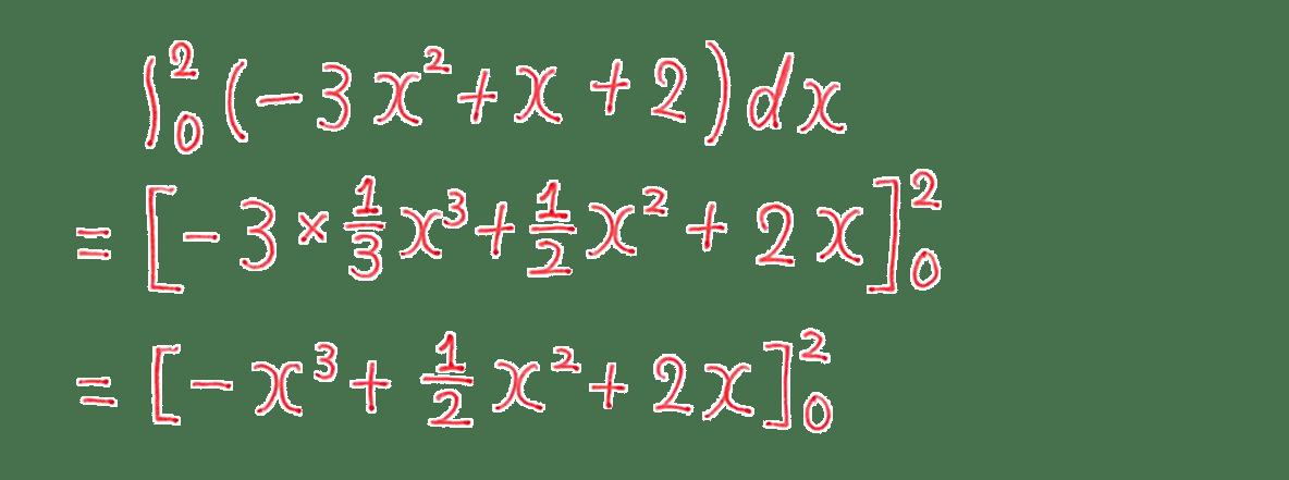 高校数学Ⅱ 微分法と積分法21 例題 答え3行目まで