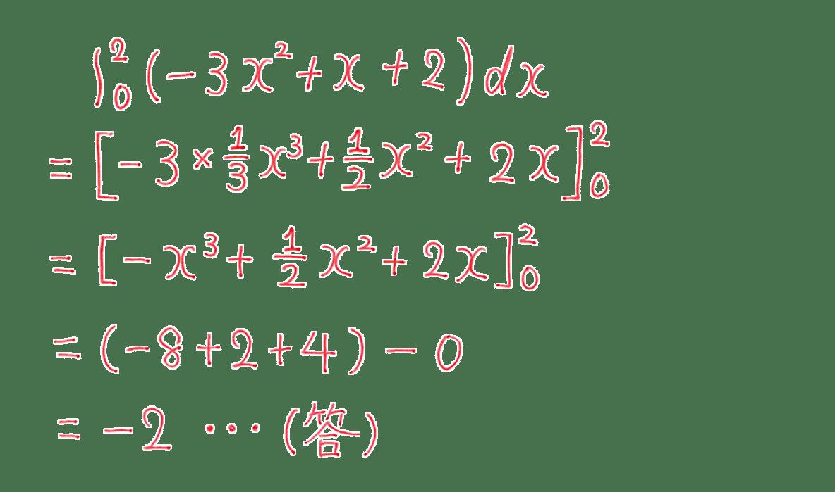 高校数学Ⅱ 微分法と積分法21 例題 答え