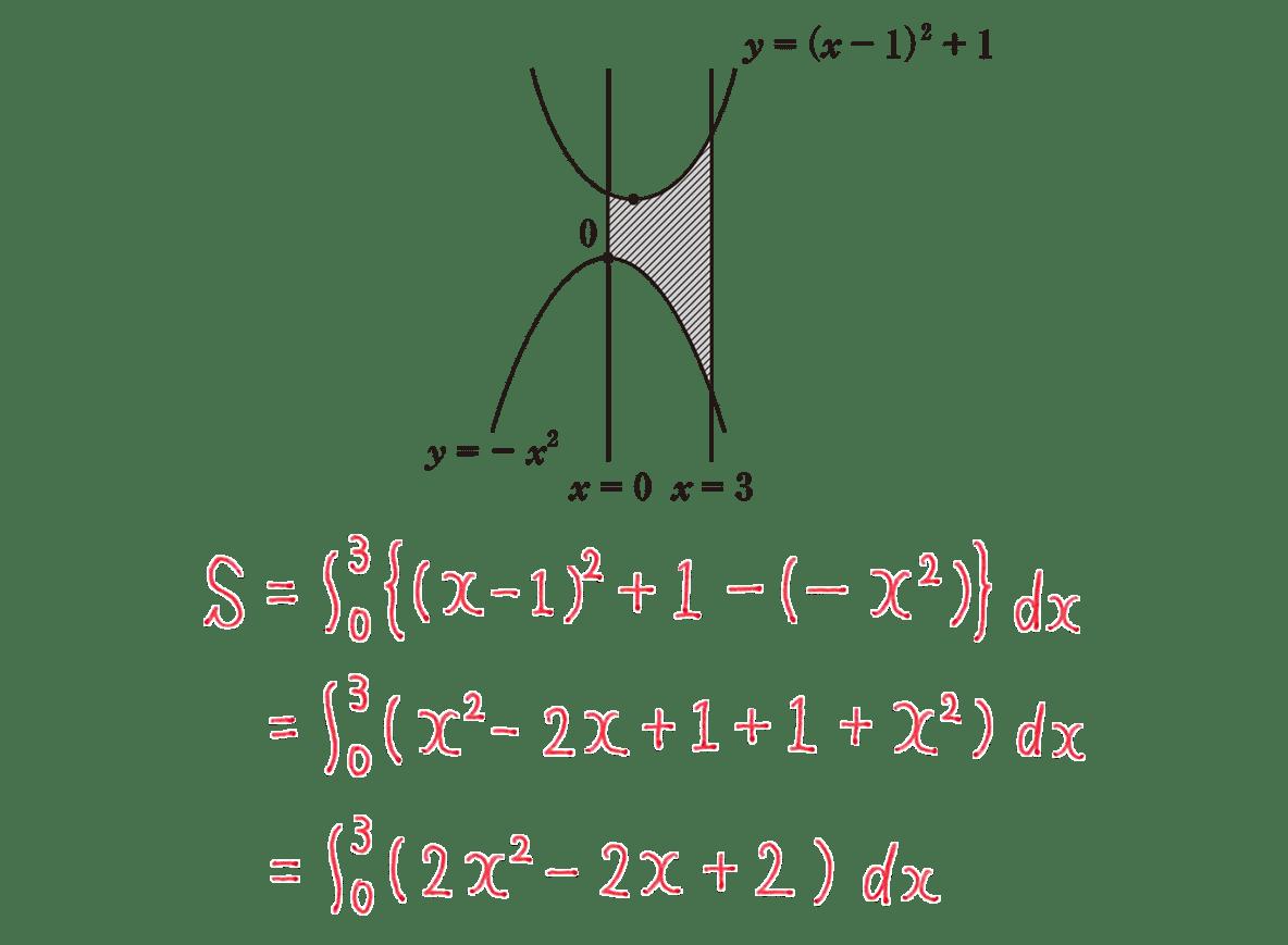 高校数学Ⅱ 微分法と積分法24 練習 答えの1~3行目