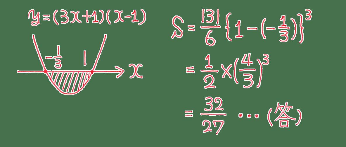高校数学Ⅱ 微分法と積分法27 例題 答え