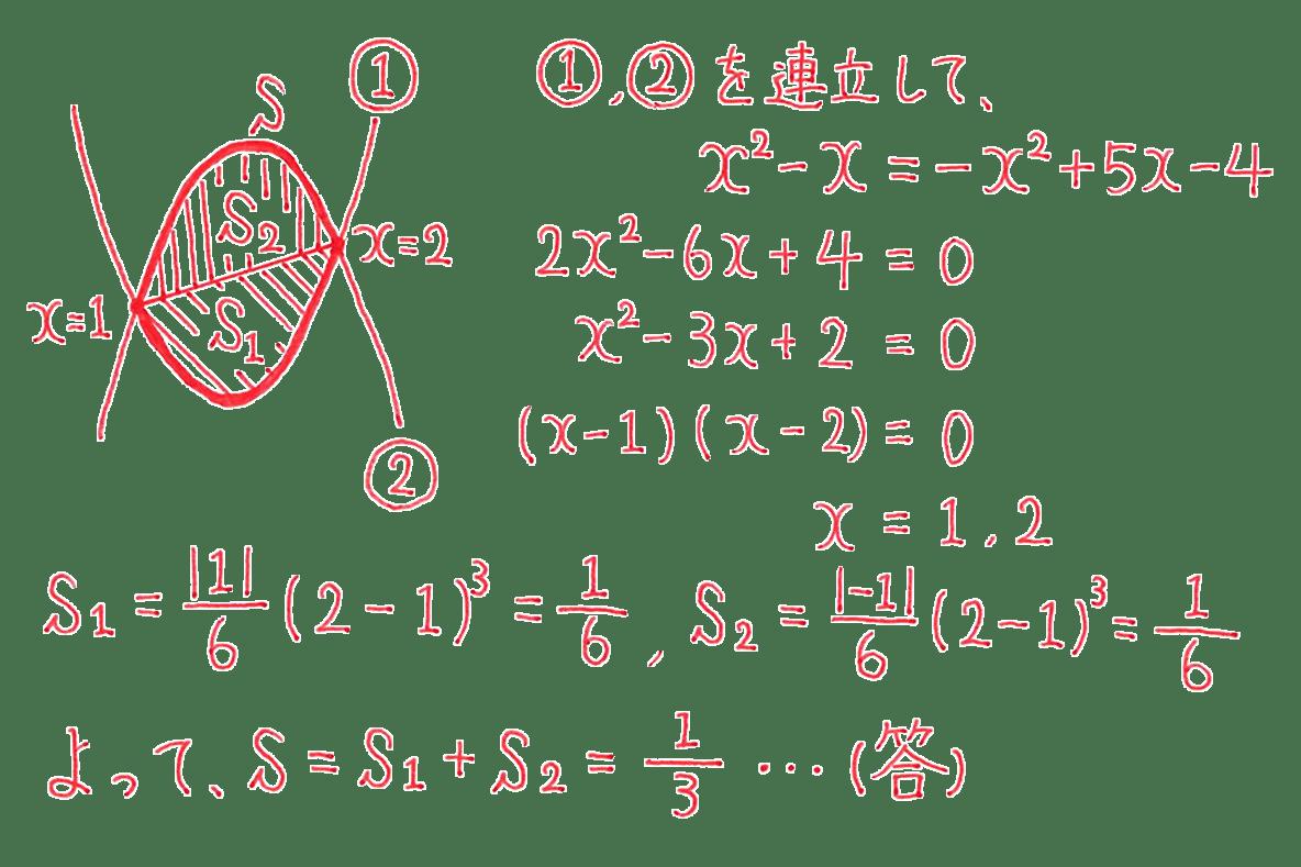 高校数学Ⅱ 微分法と積分法28 例題 答え