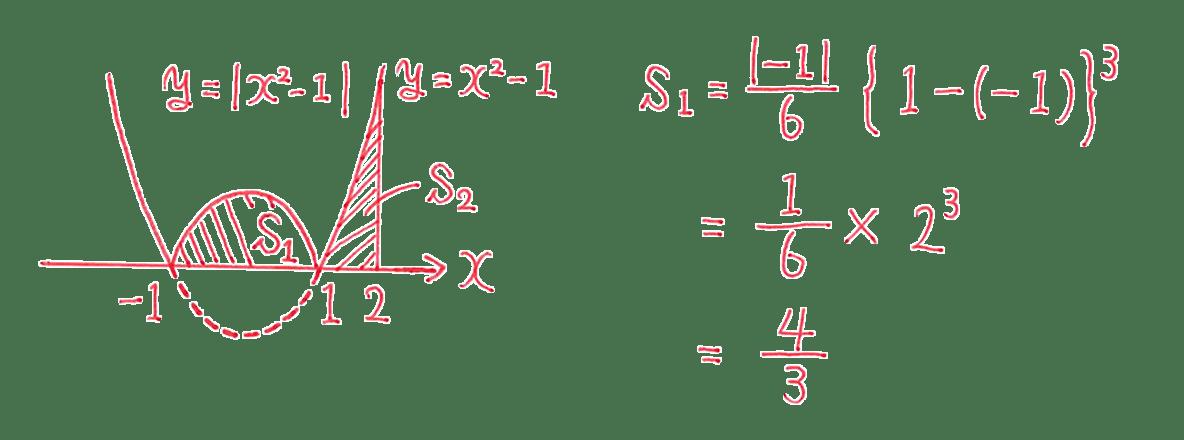 高校数学Ⅱ 微分法と積分法30 練習 答えの図と3行目まで