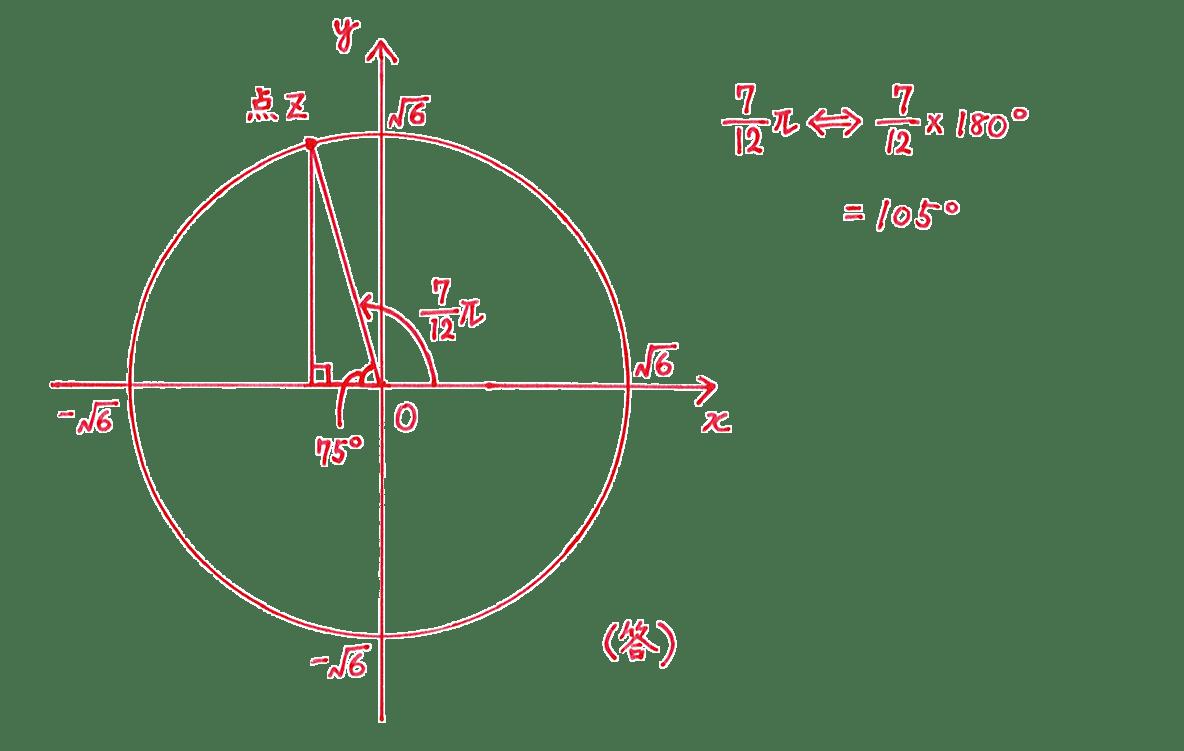 高校数Ⅲ 複素数平面14 問題2 解答