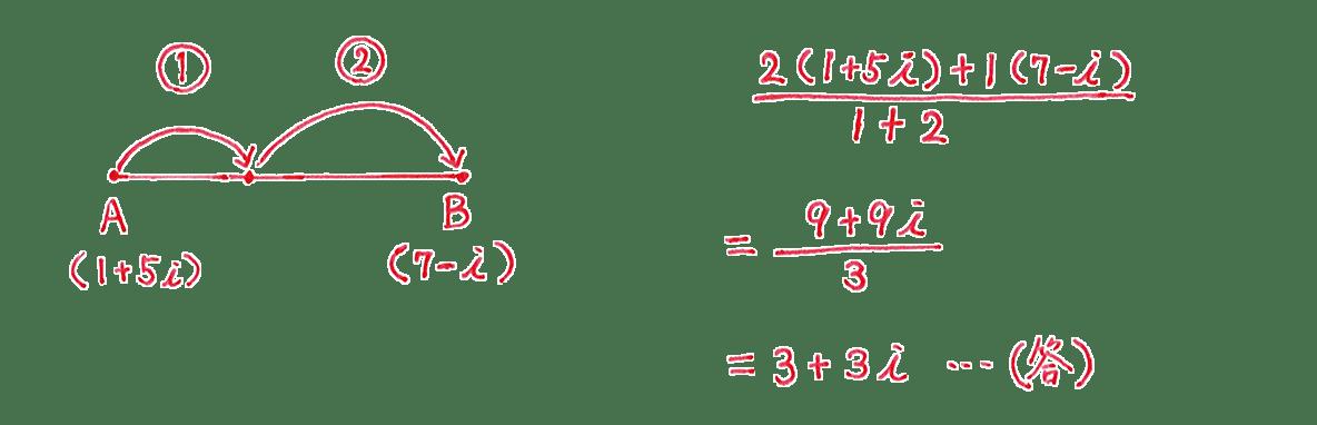 高校数Ⅲ 複素数平面22 問題1 答え