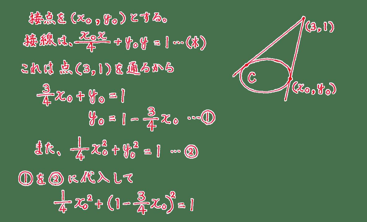 式と曲線20 問題 解答1~8行目と手書き図