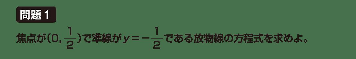 式と曲線2の問題1