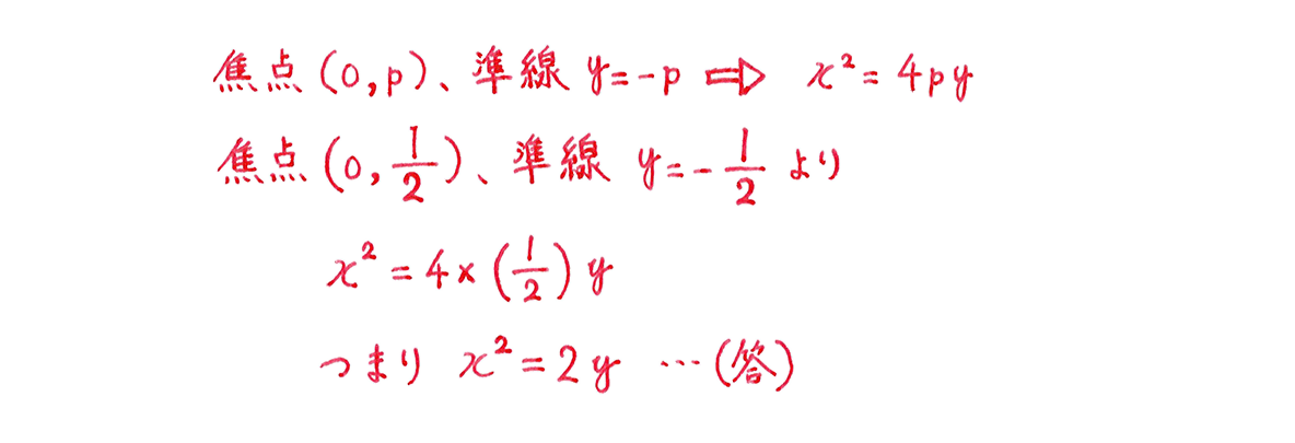式と曲線2の問題1の解答
