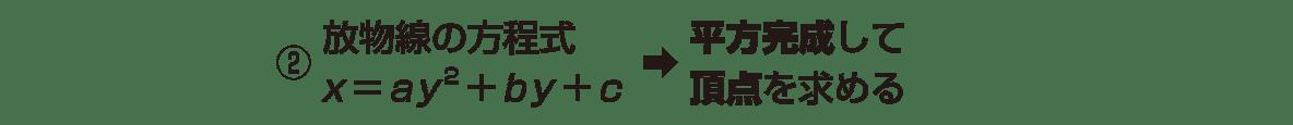 式と曲線3のポイントの②の2行分