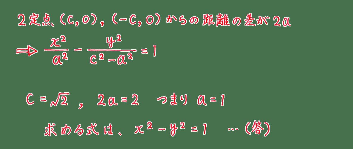 式と曲線8 問題1 解答