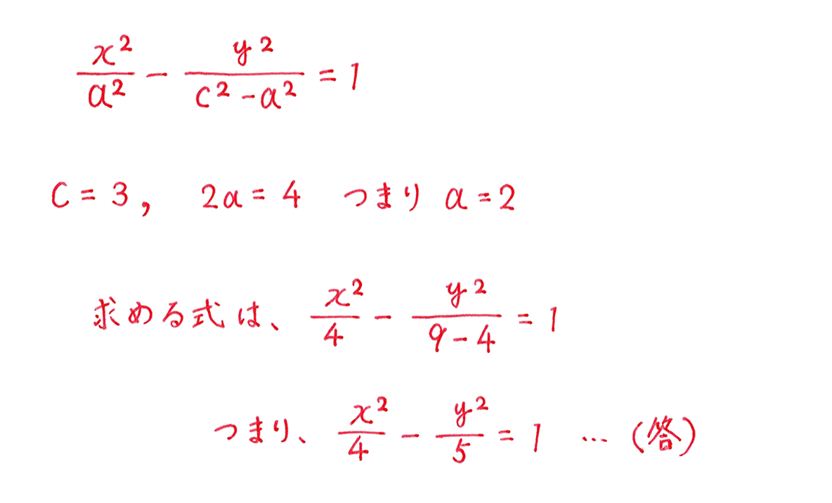 式と曲線8 問題2 解答