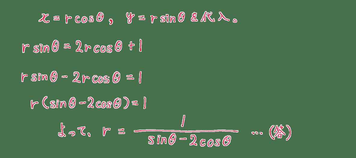 式と曲線27 問題1 答え