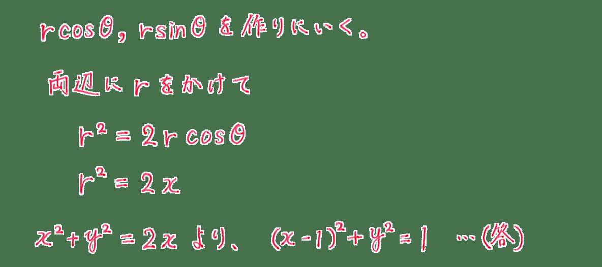 式と曲線29 問題2 答え