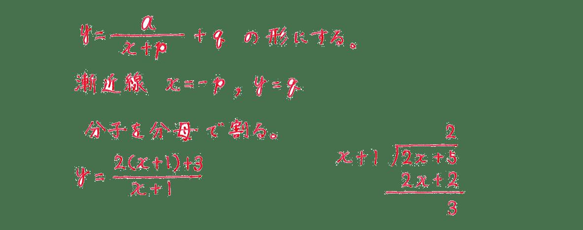 種々の関数3 問題 解答1~4行目 割り算の筆算つき