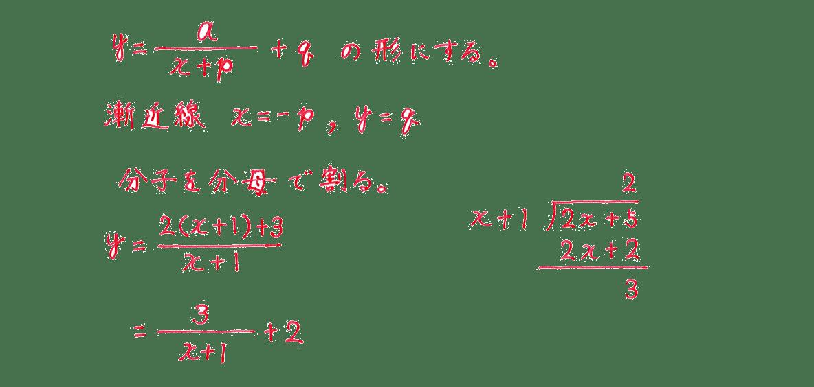種々の関数3 問題 解答1~5行目 割り算の筆算つき