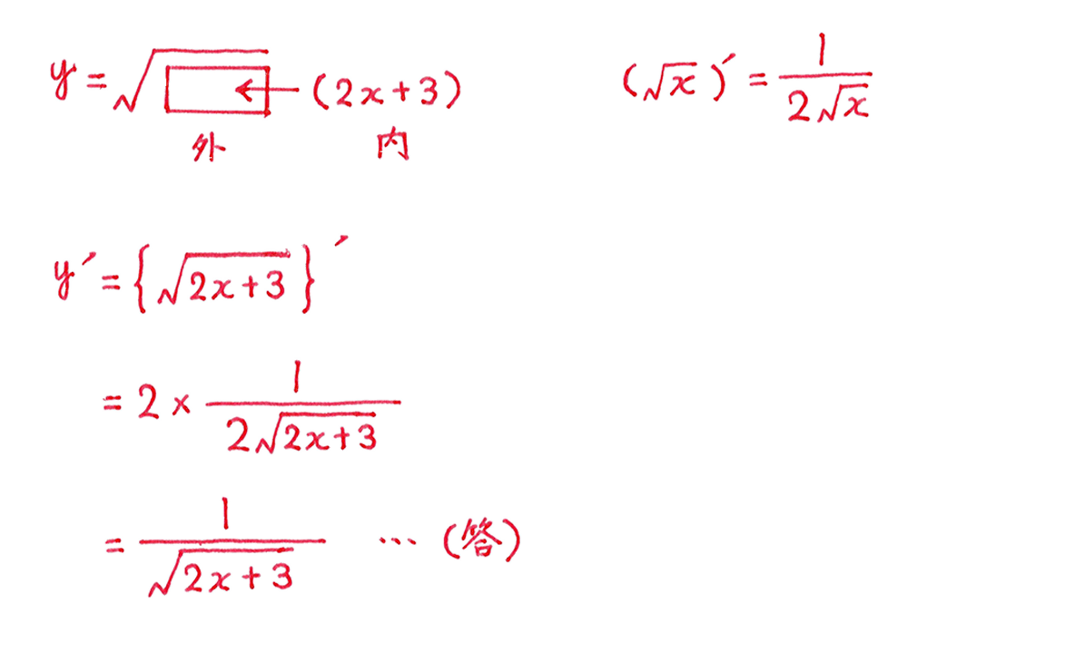 微分法13 問題2 答え