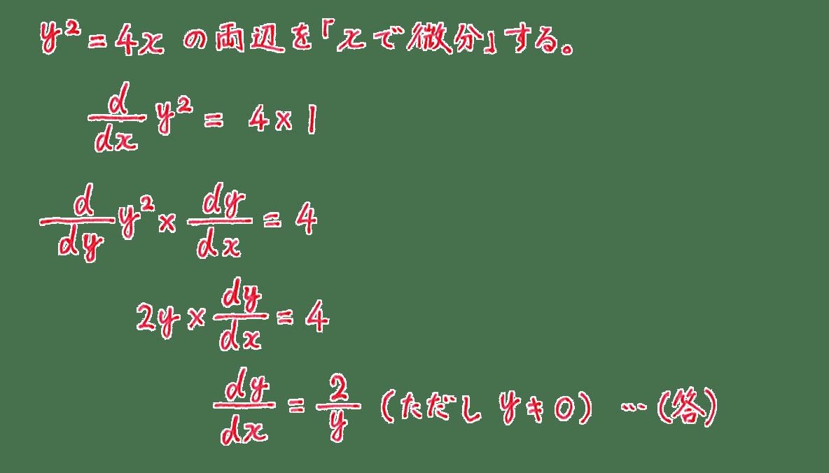 微分法16 問題 答え