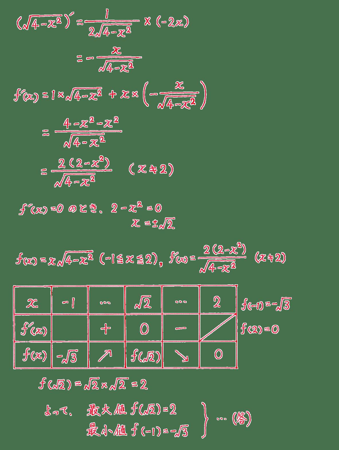 微分法の応用16 問題 答え