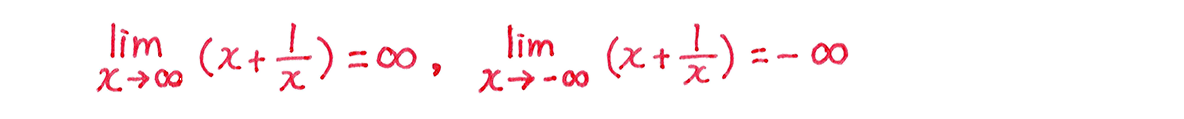 微分法の応用21 問題 増減表の下の一行目のみ(増減表不要)
