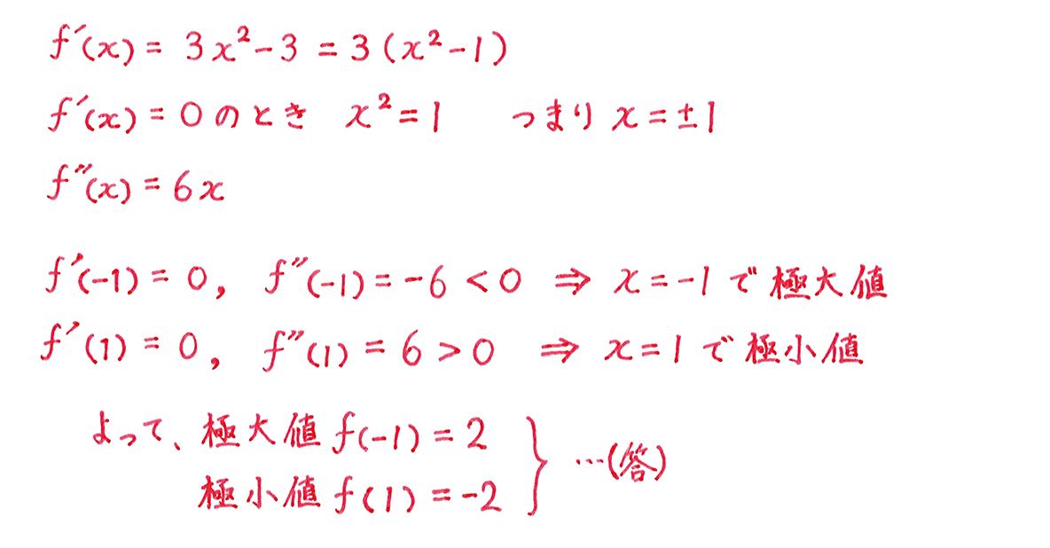 微分法の応用22 問題1 答え