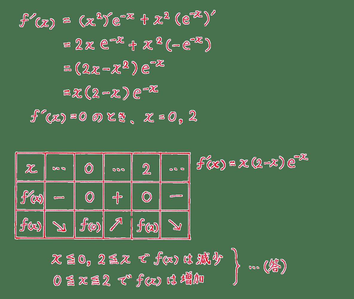 微分法の応用7 問題 答え
