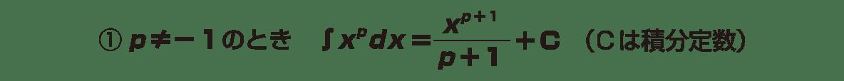 積分法とその応用1 ポイント 下の2行分(できれば,=をつなげて1行におさめる)