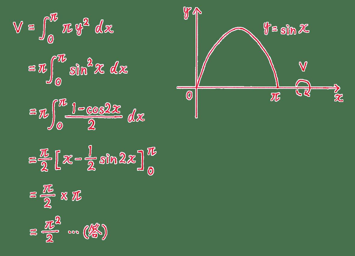 積分法とその応用43 問題2 答え