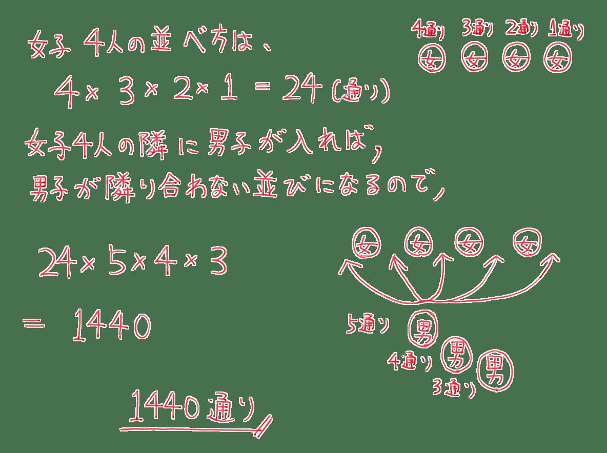 高校数学A 場合の数と確率18 練習の答え